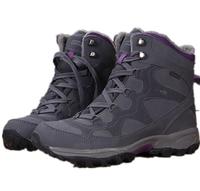 Women Winter Warm Hiking Shoes High Snow Boots Breathable waterproof Purple khaki cn size 36-42 4311 retail free ship
