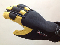 New arrival motorcycle bicycle gloves off-road ride genuine leather gloves sheepskin thin Size fits all