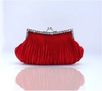 Women Pearl Evening Bag  Clutch Gorgeous Bridal Wedding Party Chain Bag Handbag H07 Free Shipping