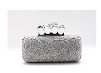 Women Pearl Evening Bag  Clutch Gorgeous Bridal Wedding Party Chain Bag Handbag H10 Free Shipping