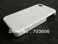 Luxury Shiny Diamond Plating Hard Back Case Cover for Apple iPhone 4/4S DHL Free Shipping 500pcs