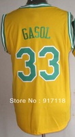 Free Shipping,#33 Marc Gasol 2013 Rev 30 New Material Basketball jersey,Embroidery logos,Size S--3XL,Mix Order