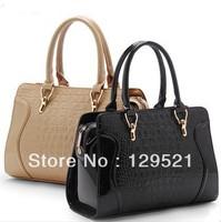 2014 crocodile pattern bag fashion smiley women's leather handbag high quality shoulder bag bolsas femininas women messenger bag