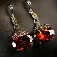 Top grade Fashion vintage earrings Drop earrings Ruby earrings Accessory Free shipping
