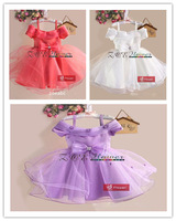 Hot sale new styl girls party wedding dress straps children's princess evening dresses  (Free shipping)