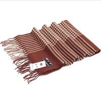 Men's precision houndstooth cotton scarf man stripe scarves in winter autumn Pashmina