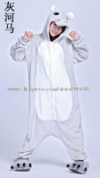 grey hippo included shoes fleece Kigurumi dropship free shipping