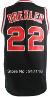 Free Shipping,#22 Clyde Drexler Rev 30 Top quality Basketball jersey,Embroidery logos,Size 44-56
