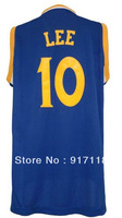 Free Shipping,#10 David Lee 2013 Rev 30 Top quality New Material Basketball jersey,Embroidery logos,Size S--3XL,Mix Order