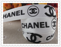 "2013 new arrival 7/8"" (22mm) brand logo printed grosgrain ribbons cartoon ribbon hair accessories 10 yards"