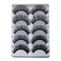 Charming Black Curling Eyelashes Cute Human Hair Eyelash Fake Eyelashes With Glue  For Lashes Cheap False Eyelashes