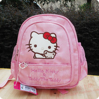 Hot selling Hello kitty  pink Cartoon baby bag kindergarten children bags child shoulder school bag cute backpacks