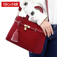 2013 serpentine pattern tassel bag platinum handbag shoulder bag messenger bag female bags - 10816
