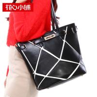 2013 fashion bag patchwork bag color block handbag shoulder bag female bags - 10580