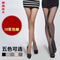 Ultra-thin Core-spun Yarn wire plus crotch pantyhose sexy black stockings female   stockings sexy Wholesale brand for women