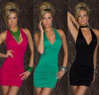 Backless Spaghetti Strap Bandage Dress Sexy Night Club Wear Open Back Ladies Elastic y V Neck Party Mini Dress