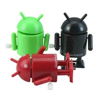 Low price 7cm small 10 Pcs/Lot Google Android robot toy audible and visual gift for boy &Girl Christmas new year gift robot toy