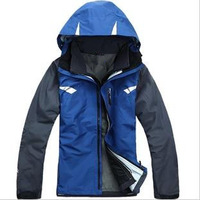 Free Shipping 2014 Brand Top Quality Fashion Men's Hiking Jacket 2in1 Double Layer Waterproof Sport Coat Winter Outdoor Ski Suit