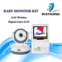 "Free shipping 2.4G  Wireless 2.4""TFT Digital Baby Monitor IR Video Talk one Camera Night Vision video/Baby Monitor"