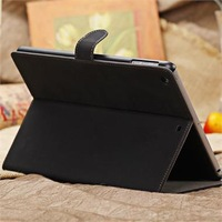 Free Shipping Sleep Wake-Up Function Luxury Suede Leather Smart Case Stand Retro Cover Cover For Apple ipad Air 5th