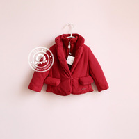 Sun high quality fashion red high quality cotton-padded jacket wadded jacket short design limited