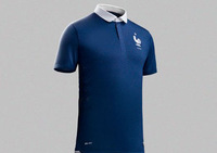 ^_^ 2014 world cup France home  thailand  A+++ quality top quality jeans blue soccer jerseys free shipping customized free