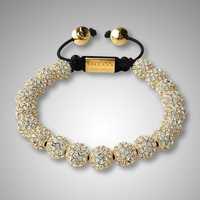 SB0033A Shamballa alloy gold bracelet, 8MM gold bead threadless, shamballa nice-looking bracelet