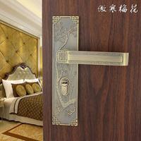 Chinese interior wood door handle locks bedroom