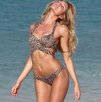 Freeshipping bohemian ethnic stripes leopard geometry patterns print  sexy vintage bikini set swimwear 8850 Swimsuit