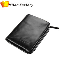 New Arrived Black Zipper Fashion Luxury Leather Passport Holder Boss Men Designer Leather Purse Passport Wallet Free Shipping
