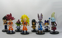 8x  Dragon Ball Z GT Action Figure Japanese Anime Figures Toys Goku/Vegeta 9CM PVC 8PCS/SET Free Shipping Best Gift