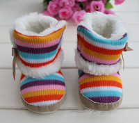 Hot-sell 2013 new baby soft bottom first walkers baby shoes Cotton-padded snow boots inner size 11cm12cm 13cm Free shipping