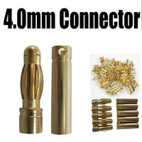100 pairs = a lot 4mm Gold Bullet Banana Connector Plug for RC Battery