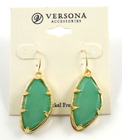 2013 NEW Fashion Brand Vintage Jewelry Drop Earrings with Big Colorful Synthetic Resin Jade for Women,Free Shipping