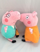 Free shiping/Hot sale big size 30cm Cute Papa pg With Mama Pig Plush Doll Toy Stuffed Plush Cartoon Plush Kids Gift