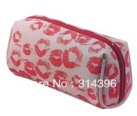 Customized fashion cosmetic bag with lip printing