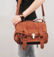 2013 new Fashion women's genuine leather handbag scrub bag vintage messenger bag tote bag LF06662