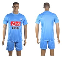 9# Higuain TOP quality Men Home Blue Napoli 2013 2014  Soccer Jersey Napoli Footbal blue Shirt &short Naples Futbol Uniforms