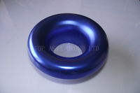 76mm 3 inches Alloy BLUE Air Inlet Intake Ram Pipe Funnel Ducting Duct