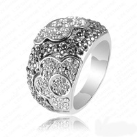 2013 Newest Fashion Platinum Plating Austrian Crystals Noble Flower Engagement Rings/Rings for Women Wedding Jewelry RIN062