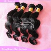 4 bundles brazilian body wave color 1b# cheap brazilian hair weaving full and soft 100% human hair weave wavy fast shipping