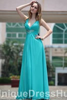 Free Shipping v-neck long chiffon mother of the bride dress, Quinceanera Dresses blue and purp, dresses Evening 2013 Cheap Sale