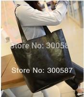 2014 New Fashion women Lady Large PU Leather Handbag Shoulder Bag Messenger Bag with small bag/3 color