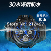 Freeshipping 10pc/lot 30M waterproof  sports style skmei watch,PU plastic band,Japan imported movement and Japan battery.