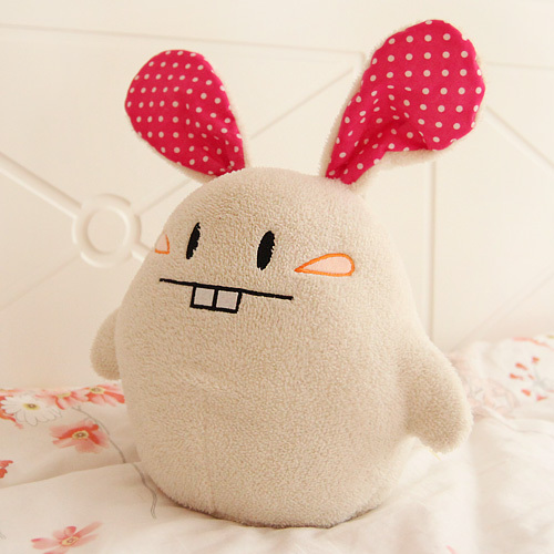 Free shipping 40cm super cute sweet buckteeth bunny plush ball rabbit animal pillow kids birthday gif