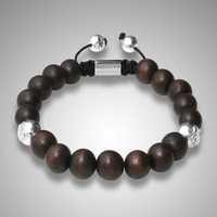NYE3023 wood beads vintage shamballa bracelet personalized beads custom