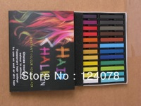 New 24 Colors Non-toxic Temporary Hair Chalk Dye Soft Pastels Free Shipping 100set/lot