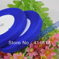 """100Y 3/8"""" Sheer Organza Ribbon Craft/Wedding/sewing Navy RA127"""