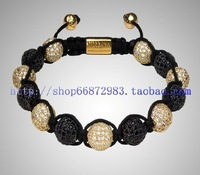 (Min. order $10 , can mix) NYE3125 Hot selling fashion jewelry crystal with lazurite beads shamballa bracelet vners alibaba
