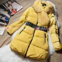 2013 women's autumn and winter big collar thickening maomao thermal fashion down coat